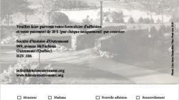 Formulaire d'adhésion à la Société d'histoire d'Outremont