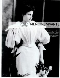 Dernier numéro de Mémoire vivante porte sur Victoria Cartier