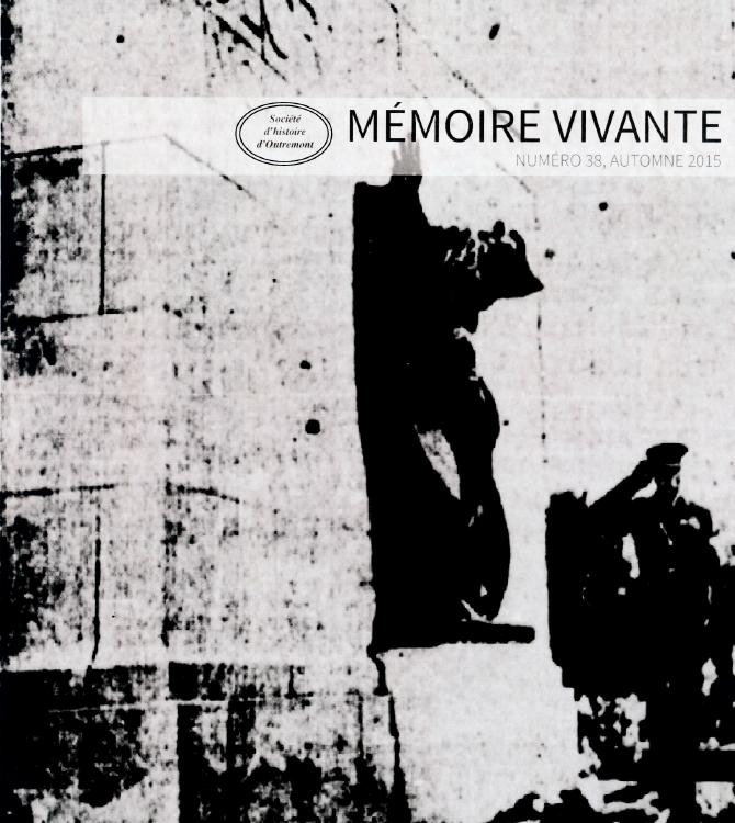 Mémoire vivante, édition Jour du souvenir 2015
