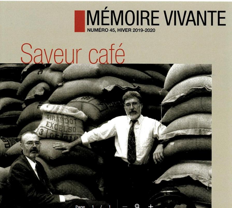 Mise en ligne du plus récent numéro de Mémoire vivante !